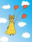 Cat funny card