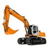 bagger excavator yellow
