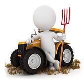 3d white people farmer