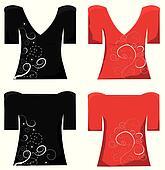T-shirt design. Woman t-shirt .