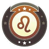Leo zodiac imperial button