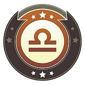 Libra zodiac imperial button