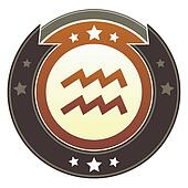 Aquarius zodiac imperial button