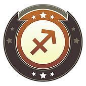 Sagittarius imperial button