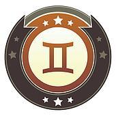 Gemini zodiac imperial button
