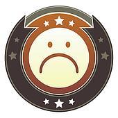 Sad face imperial button
