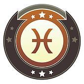 Pisces zodiac imperial button