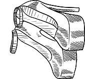 High heeled shoes sketch