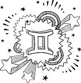 Gemini zodiac pop vector
