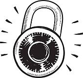 Clip Art Lock Clip Art combination lock clip art royalty free gograph bank safe sketch