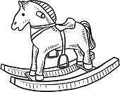 Rocking horse sketch