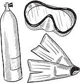 Scuba gear sketch