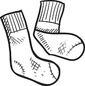 Athletic tube socks sketch