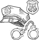 Police objects sketch