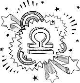 Pop Libra astrology symbol