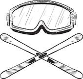 Skiing Clip Art - Royalty Free - GoGraph