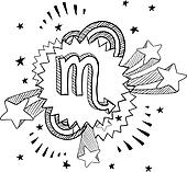 Pop Scorpio astrology symbol