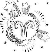 Pop Aries astrology symbol