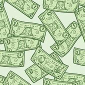 Seamless dollar bill background