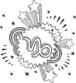 Pop Capricorn astrology symbol