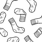 Seamless athletic socks background