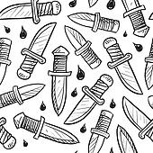 Seamless knife background