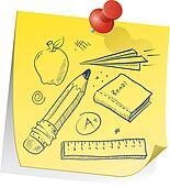 School supplies reminder sketch
