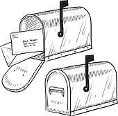 Retro mailbox sketch