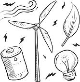 Wind energy objects sketch