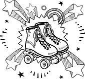 Pop roller skates sketch
