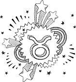 Taurus zodiac sketch
