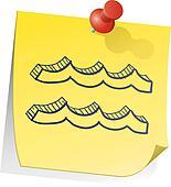 Aquarius zodiac sticky note
