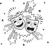 Pop theater masks sketch