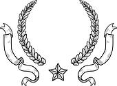 Blank military or heraldry wreath