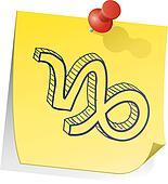 Capricorn zodiac sticky note