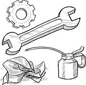 Mechanic Clip Art - Royalty Free - GoGraph