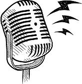 Retro microphone sketch
