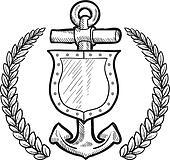 Maritime or naval shield