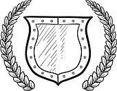 Secure shield or blank heraldry