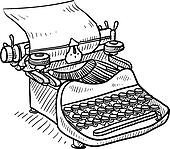 Typewriter Clip Art - Royalty Free - GoGraph