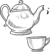 Teapot or coffeepot sketch