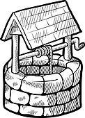 Farmhouse well sketch