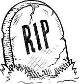 Halloween tombstone sketch