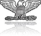 SU Military eagle insignia
