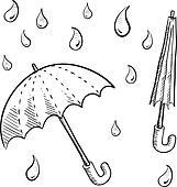 Rain umbrella sketch