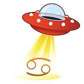 Cancer zodiac UFO button