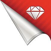 Diamond corner tab