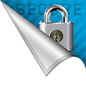 Secure corner tab