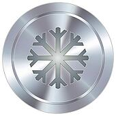 Snowflake on industrial button