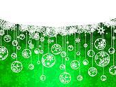 Elegant Christmas green with snowflakes. EPS 8